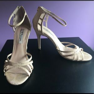 {Nina} Gold Heels